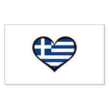 Greece Love Greek Rectangle Decal