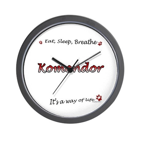 Komondor Breathe Wall Clock