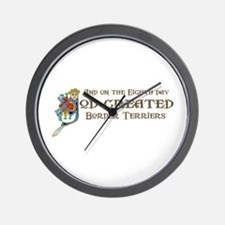God Created Terriers Wall Clock