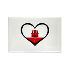 Gibraltar Love Rectangle Magnet