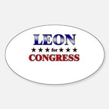 LEON for congress Oval Decal