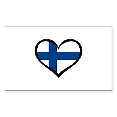 Finland Love Rectangle Sticker