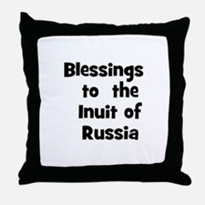 Blessings  to  the  Inuit of  Throw Pillow