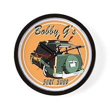 Bobby G's Surf Shop Wall Clock