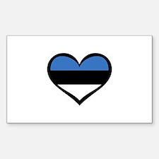 Estonia Love Rectangle Decal