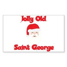Jolly Old Saint George Rectangle Decal