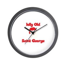 Jolly Old Saint George Wall Clock