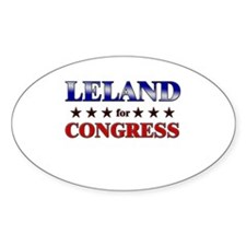LELAND for congress Oval Decal