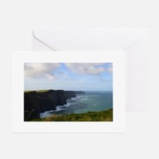 Sea Cliffs in Ireland Greeting Cards