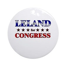 LELAND for congress Ornament (Round)