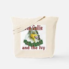 Blue Merle Collie & Ivy Tote Bag
