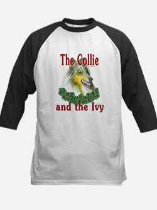 Blue Merle Collie & Ivy Kids Baseball Jersey
