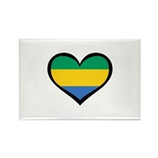 Gabon Love Rectangle Magnet