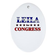 LEILA for congress Oval Ornament
