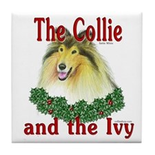 Sable Collie & Ivy Tile Coaster