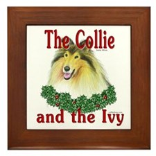 Sable Collie & Ivy Framed Tile