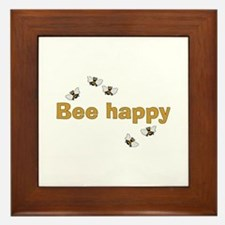 Bee Happy Framed Tile