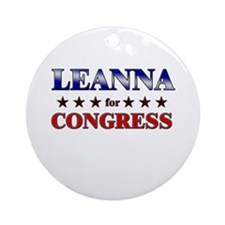 LEANNA for congress Ornament (Round)