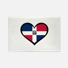 Dominican Republic Love Rectangle Magnet