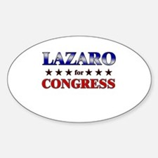LAZARO for congress Oval Decal