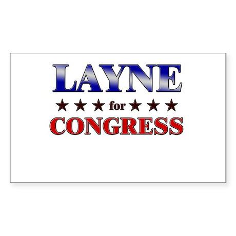 LAYNE for congress Rectangle Sticker