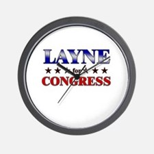 LAYNE for congress Wall Clock