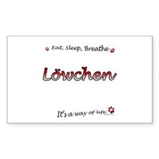 Lowchen Breathe Rectangle Decal