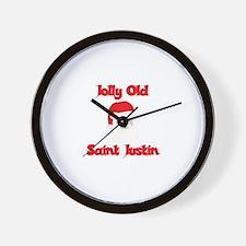 Jolly Old Saint Justin Wall Clock