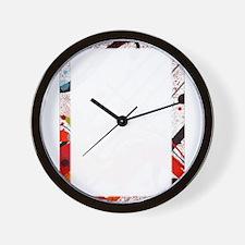 Violin Abstract Poster Wall Clock