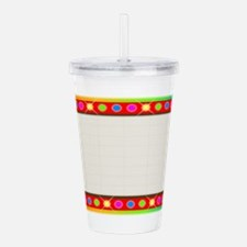 Multi Coloure Cinema M Acrylic Double-wall Tumbler