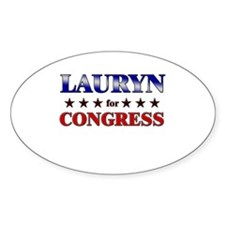 LAURYN for congress Oval Decal