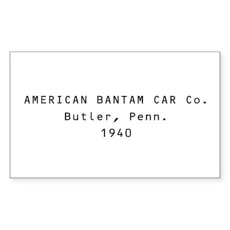 American Bantam Car Co. Rectangle Sticker