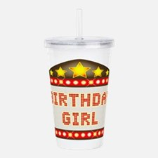 Cinema Marquee Birthda Acrylic Double-wall Tumbler