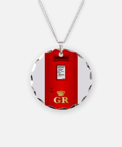 Typical UK Post Box Necklace