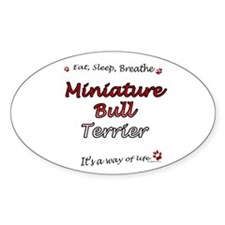 Mini Bull Breathe Oval Decal