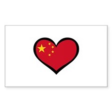 China Love Chinese Rectangle Decal
