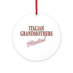Italian grandmother Ornament (Round)