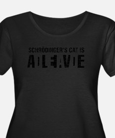 Schrodinger's cat is dead / alive. Plus Size T-Shi