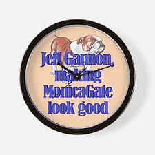 Monicagate looks good Wall Clock