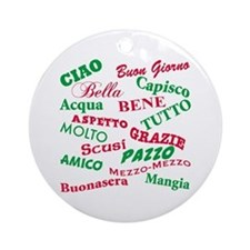 Italian Sayings Ornament (Round)