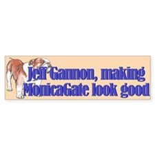 Monicagate looks good Bumper Bumper Sticker