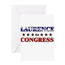 LAURENCE for congress Greeting Card