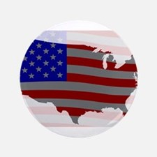 "USA Map Silhouette And Flag 3.5"" Button (100 pack)"