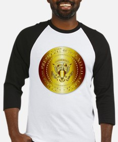 Presedent Seal In Gold Baseball Jersey