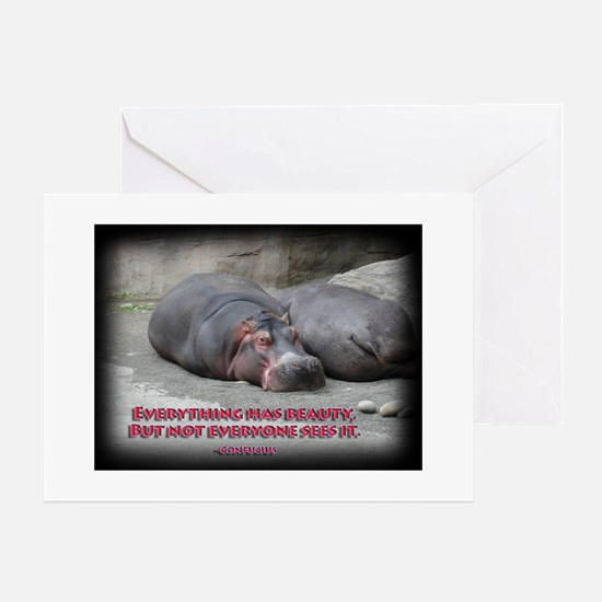 Hippos are beautiful! Greeting Card