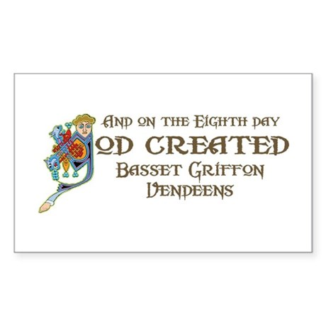 God Created Griffons Rectangle Sticker
