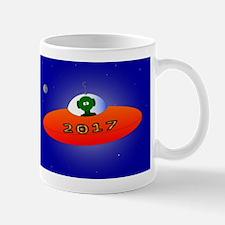 Happy New Year 2017 Alien Mugs