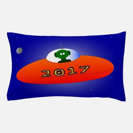 Happy New Year 2017 Alien Pillow Case