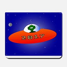 Happy New Year 2017 Alien Mousepad