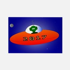 Happy New Year 2017 Alien Magnets